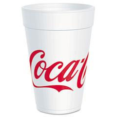 Dart® Coca-Cola Foam Cups, Foam, Red/White, 32 oz, 25/Bag, 20 Bags/Carton