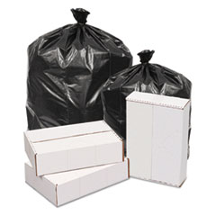 "GEN Waste Can Liners, 60 gal, 1.6 mil, 38"" x 58"", Black, 100/Carton"