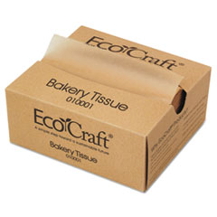 Bagcraft EcoCraft Interfolded Dry Wax Deli Sheets, 6 x 10 3/4, Natural,1000/Box, 10 Bx/Ct