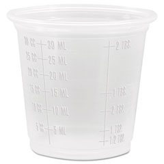 Dart® Conex Complements Graduated Plastic Portion Cups, 1.25oz, Translucent, 2500/CT
