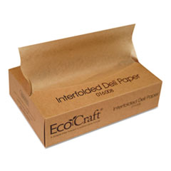 Bagcraft EcoCraft Interfolded Soy Wax Deli Sheets, 8 x 10 3/4, 500/Box, 12 Boxes/Carton