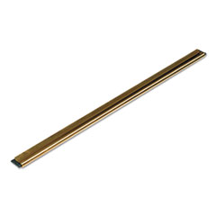 Unger® Golden Clip Brass Channel with Black Rubber Blade & Clip, 12 Inches, Straight
