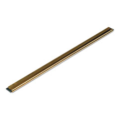Unger® Golden Clip Brass Channel w/Black Rubber Blade & Clip, 18In, Straight