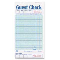 AmerCareRoyal® Guest Check Book, 3 1/2 x 6 7/10, 50/Book, 50 Books/Carton