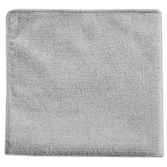 Rubbermaid® Commercial Executive Multi-Purpose Microfiber Cloths, Gray, 12 x 12, 24/Pack