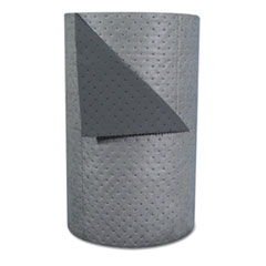 "SPC® High-Traffic Series Sorbent-Pad Roll, 63gal, 30"" x 300ft, Gray, 100/Pack"