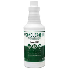 Fresh Products Bio Conqueror 105 Enzymatic Odor Counteractant Concentrate, Mango, 32 oz Bottle, 12/Carton