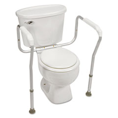 HealthSmart® Toilet Safety Arm Support with BactiX Antimicrobial, White, 250 lb Capacity