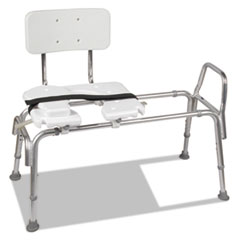 "Heavy-Duty Sliding Transfer Bench with Cut-Out Seat, 19-23""H, 15 x 19 Seat"