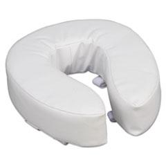 "DMI® Vinyl Cushion Toilet Seat, 4"" Riser, White"