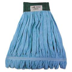 Boardwalk® Microfiber Looped-End Wet Mop Heads, Medium, Blue, 12/Carton, 12/Carton