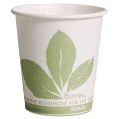 Dart® Bare Eco-Forward Paper Treated Water Cups, 3oz, Cold, 100/Sleeve, 50 Sleeves/CT