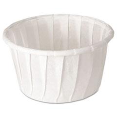 Dart® Treated Paper Soufflé Portion Cups, 1.25 oz, White, 250/Bag, 20 Bags/Carton