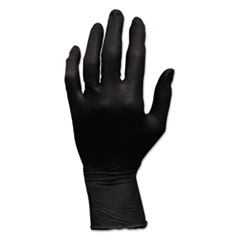 HOSPECO® ProWorks GrizzlyNite Nitrile Gloves, Powder-Free, Large, Black, 100/Box, 10 Boxes/Carton
