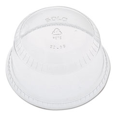 Dart® Flat-Top Dome Cup Lids, Plastic, Fits 12-14, 20oz Cups, 50/Pack 20 Packs/Carton