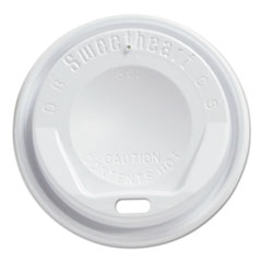 Dart® Gourmet Dome Sip-Through Lids, 8oz Cups, White, 100/Sleeve, 10 Sleeves/Carton