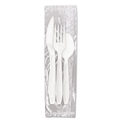 Dart® Reliance Medium Heavy Weight Cutlery Kit: Knife/Fork/Spoon, White, 500 Packs/CT