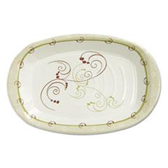 Dart® Clay-Coated Paper Plate, 8 x 6, Symphony Design, Mediumweight, 125/PK, 8 PK/CT