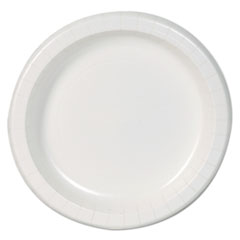"Dixie Basic™ Basic Paper Dinnerware, Plates, White, 8.5"" Diameter, 125/Pack, 4/Carton"