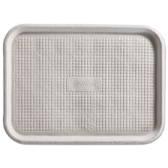 Chinet® Savaday Molded Fiber Flat Food Tray, 1-Compartment, 6 x 12, White, 200/Carton