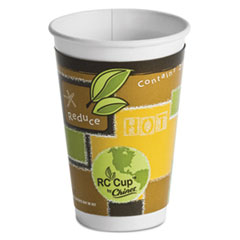 Chinet® Insulated Hot Cups, Paper, 16 oz, Multi-color, 33/Bag, 15 Bags/Carton