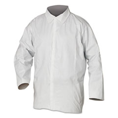 KleenGuard™ A20 Breathable Particle Protection Shirts, Large, White, 50/Carton