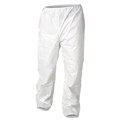 KleenGuard™ A30 Breathable Particle Protection Pants, X-Large, White, 50/Carton