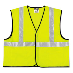 MCR™ Safety Class 2 Safety Vest, Lime Green w/Silver Stripe, Polyester, 3X-Large