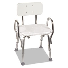 Shower Chair with Arms, White, 21