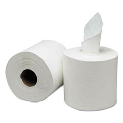 GEN Center-Pull Paper Towels, 8w x 10l, White, 600/Roll, 6 Rolls/Carton