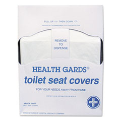 HOSPECO® Health Gards Quarter-Fold Toilet Seat Covers, White, Paper, 200/PK, 25 PK/CT