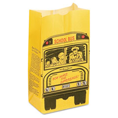 "SOS Bakery Bag Dubl Wax, 6 lbs, 3.75"", Black, Red, Yellow, 500/Carton"