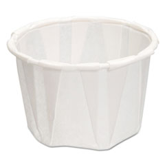 Genpak® Paper Portion Cups, 1.25 oz., White, 250/Bag, 20 Bags/Carton
