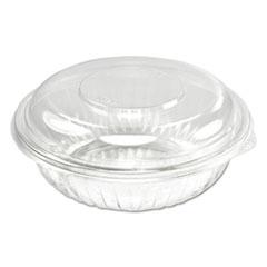 Dart® PresentaBowls Bowl/Lid Combo-Paks, 24 oz, Clear, 63/Pack, 4 Packs/Carton