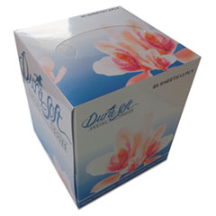 GEN Facial Tissue Cube Box, 2-Ply, White, 85 Sheets/Box, 36 Boxes/Carton