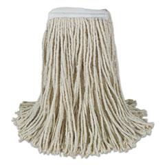 Boardwalk® Banded Cotton Mop Heads, 24oz, White, 12/Carton