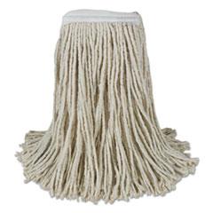 Boardwalk® Banded Cotton Mop Heads, Cut-End, 20oz, White, 12/Carton