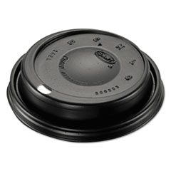 Dart® Cappuccino Dome Sipper Lids, Black, Plastic, 100/Pack, 10 Packs/Carton