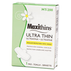 HOSPECO® Maxithins Vended Ultra-Thin Pads, 200/Carton