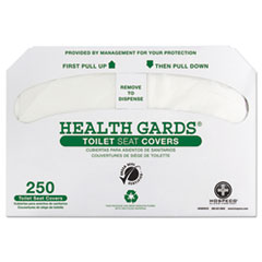 HOSPECO® Health Gards Green Seal Recycled Toilet Seat Covers, White, 250/PK, 4 PK/CT