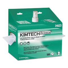 Kimtech™ Lens Cleaning Station, 8oz Spray, 4 2/5 X 8 1/2, 560/Box, 4 Boxes/Carton