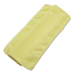 Boardwalk® Lightweight Microfiber Cleaning Cloths, Yellow, 16 x 16, 24/Pack