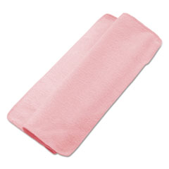 Boardwalk® Lightweight Microfiber Cleaning Cloths, Pink, 16 x 16, 24/Pack