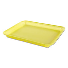 Genpak® Processor/Heavy Supermarket Tray, 8.25 x 0.8 x 10.5, Yellow, 100/Bag, 4 Bags/Carton