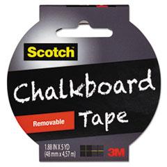 "Scotch® Chalkboard Tape, 1.88"" x 5yds, 3"" Core, Black"