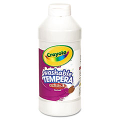 Crayola® Artista II Washable Tempera Paint, White, 16 oz