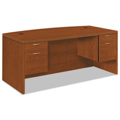 HON® Valido 11500 Bow Top Double Pedestal Desk, 72w x 36d x 29 1/2h, Bourbon Cherry