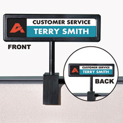 People Pointer™ People Pointer Cubicle Sign, Plastic, 8.5 x 2, Black