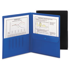 Smead® Poly Two-Pocket Folders with Security Pocket