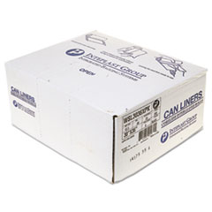 "Inteplast Group Low-Density Commercial Can Liners, 30 gal, 0.9 mil, 30"" x 36"", Black, 200/Carton"